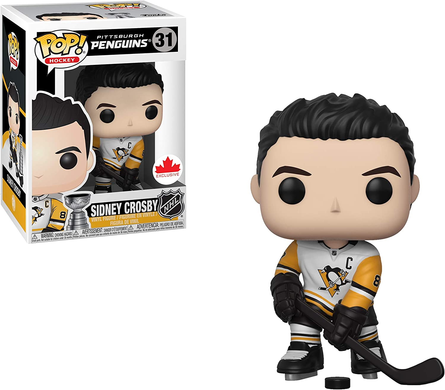 Amazon Com Pop Hockey Nhl Vinyl Figure Sidney Crosby 31 Pittsburgh Penguins Toys Games