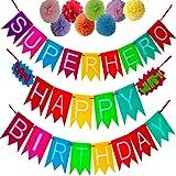 Happy Birthday Decorations Banners, Superhero Birthday Banner Party Favors, Party Supplies, Birthday Banner, Birthday Decorations, Party Decorations