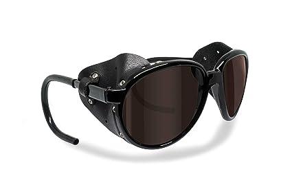 ebf4f0cb25a Bertoni Polarized Sunglasses for Mountain Hiking Trekking Glacier Snow by  Italy mod. Cortina Shiny Black