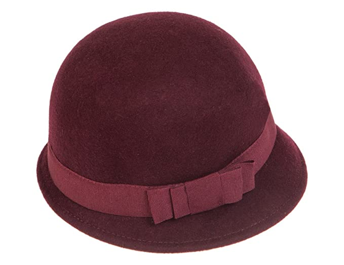 Ledatomica Cappello Cloche Donna Feltro Anni 20  Amazon.it ... 03a1ec10cf4c