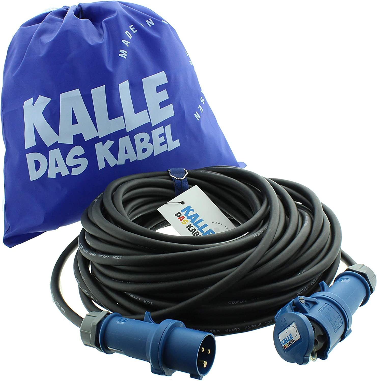 CEE-Gummiverl/ängerung H07RN-F 3G 1,5 mm/² 20 m von KALLE DAS KABEL