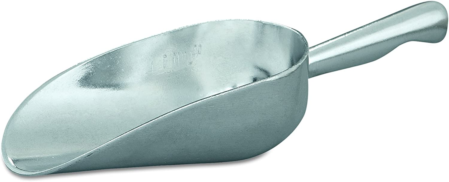 "Adcraft ALS-5 5 oz Capacity, 5"" Length x 2-3/8"" Width, Mirror Finish, Heavy Duty Cast Aluminum Scoop with Contoured Handle"