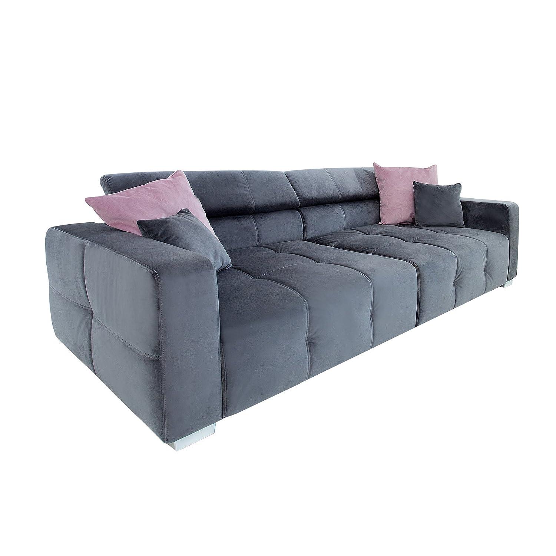 Wundervoll Sofa Mit Kopfstütze Sammlung Von Elegantes Big Trento 290cm Grau Inkl. Kissen