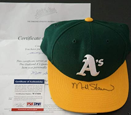 14b4c998ec1db0 Image Unavailable. Image not available for. Color: Matt Stairs Autographed  Signed Memorabilia Oakland A'S Baseball Cap ...