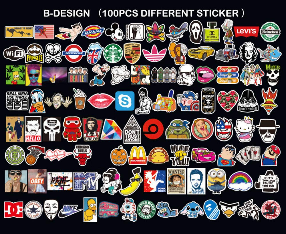 Neuleben Love Sticker Pack 100-Pcs,Sticker Decals Vinyls for Laptop,Kids,Cars,Motorcycle,Bicycle,Skateboard Luggage,Bumper Stickers Hippie Decals bomb Waterproof