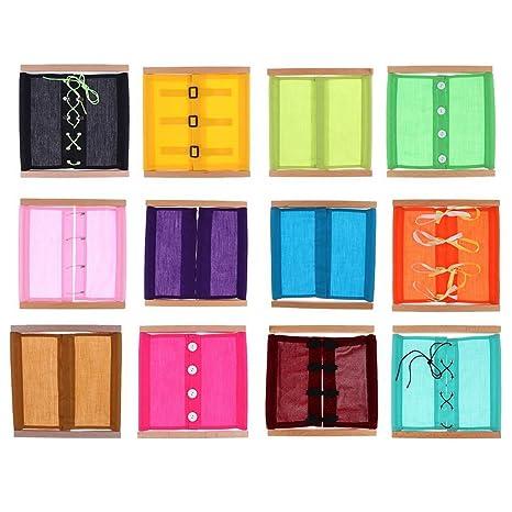 SODIAL 12 pezzi di Montessori Materiali d20f5d66e283