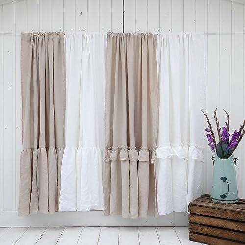 leinenvorhang weiss curtains white inches curtain vorhangshop leinenfertigvorhaenge linen pure wide products grande luxusvorhange