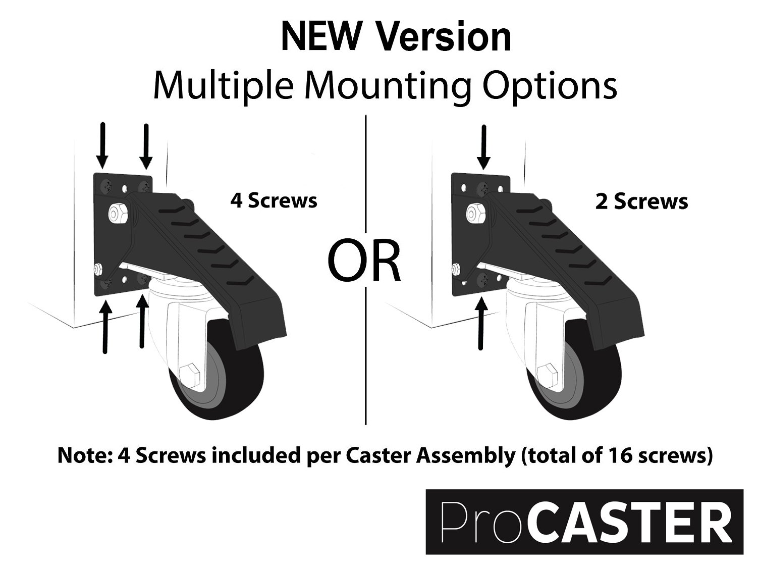 [New Version] ProCaster Workbench Caster Kit | Pack of 4 | Durable Heavy Duty Steel and Wheels | Move up to 420 lbs Easily | High Quality Material by ProCaster (Image #3)