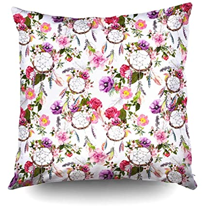 Amazon.com: XMas Dream Catcher Flowers Feathers Pattern ...