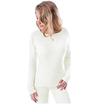 Mujer Camisa con Forro Polar Interior Térmica Manga Larga Camiseta: Amazon.es: Deportes y aire libre