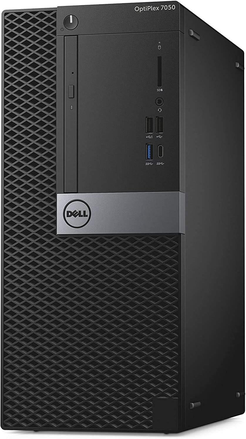 Dell OptiPlex 7050 – T Intel Core i7-6700 3.4 GHz, 16GB RAM, 512 GB Solid State Drive, DVDRW, Windows 10 Pro 64bit, (Renewed)