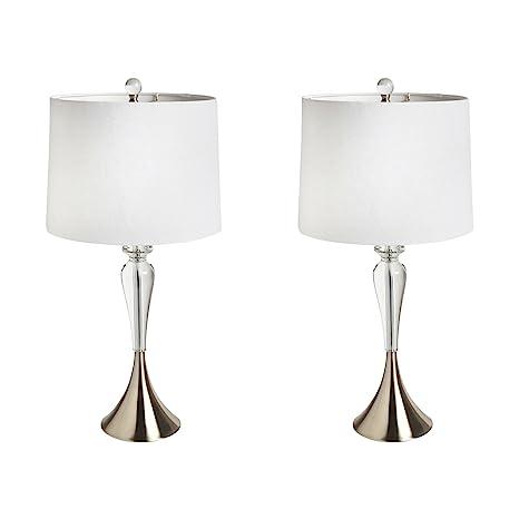 28u201d Crystal Teardrop Table Lamps, Set Of 2