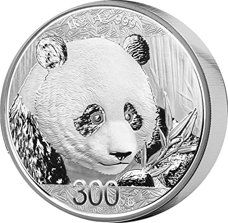 Power Coin Panda 1 Kg Kilo Silber Münze 300 Yuan China 2018 Amazon