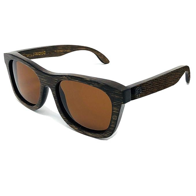 Amazon.com: Gafas de sol juveniles de madera de bambú para ...