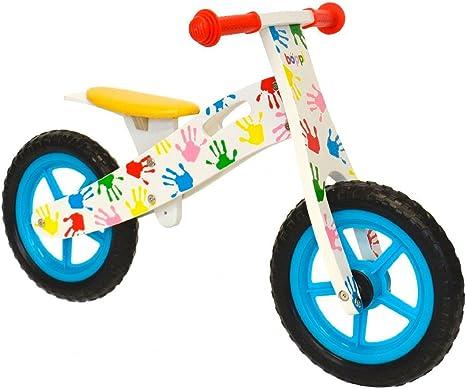 boppi® Bici sin Pedales de Madera para niños de 3-5 años - Manos Estampadas de Colores: Amazon.es: Deportes y aire libre