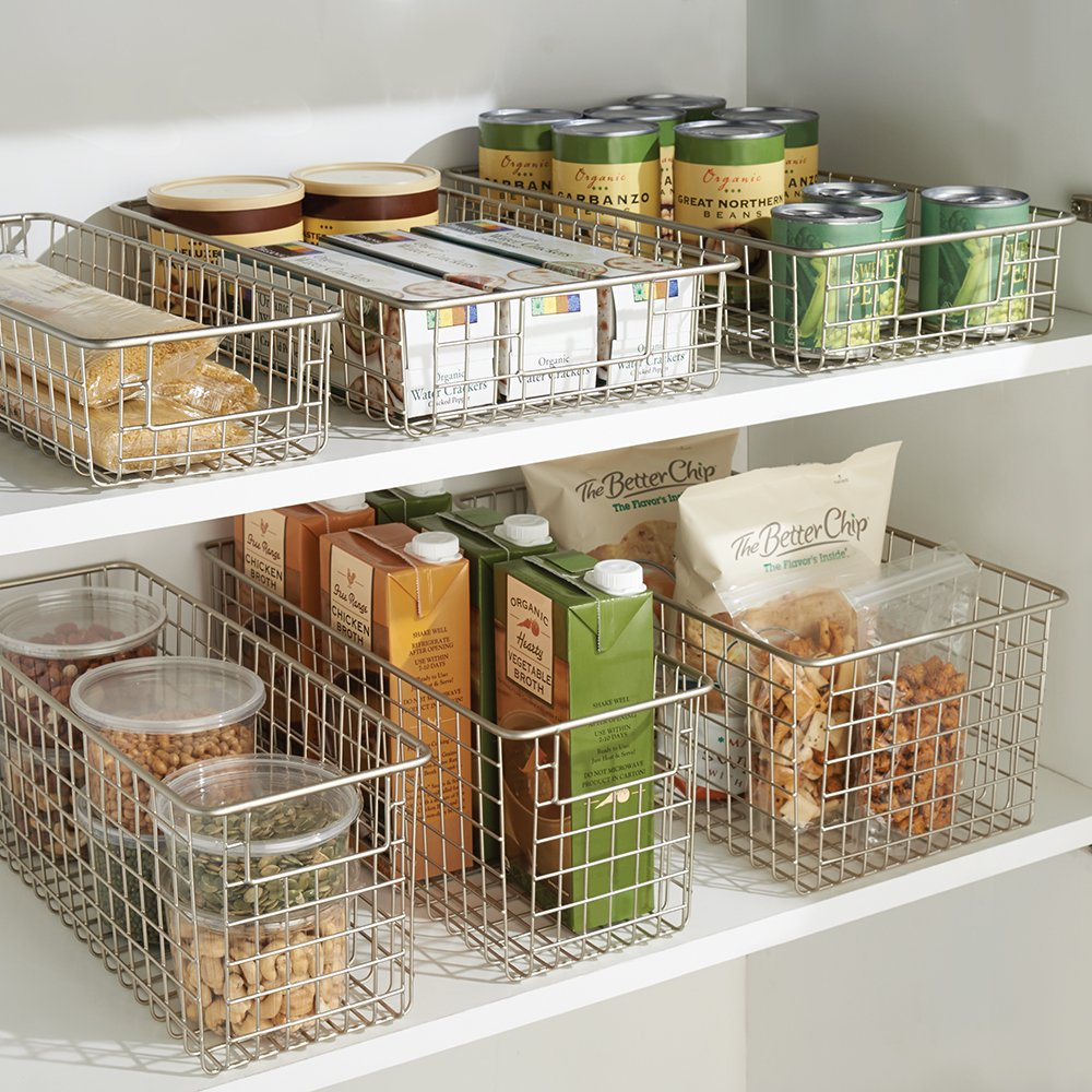 Amazon.com: InterDesign Classico Kitchen Pantry Freezer Wire Basket ...