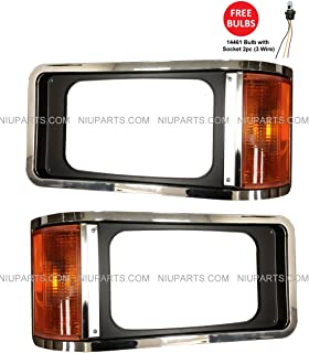 amazon com 1999 2003 (1999 2000 01 02 03) ford windstar headlight ford headlight adjustment chart headlight bezel chrome with 3 wire corner light driver and passenger side (fit