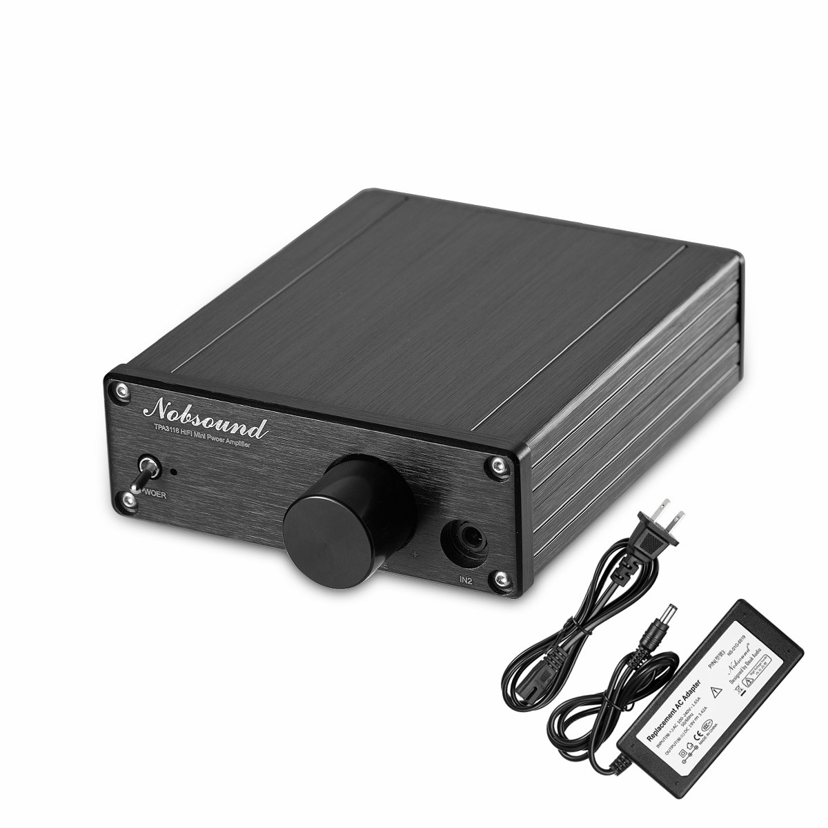 Nobsound 2.0 Channel Power Amplifier ; Hi-Fi Audio Amp for Home Speakers ; 200W (100W x 2)