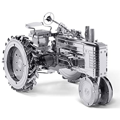 Fascinations Metal Earth Farm Tractor 3D Metal Model Kit: Toys & Games