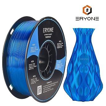 Filamento PETG Transparente Blue 1.75 mm, filamento ERYONE para ...