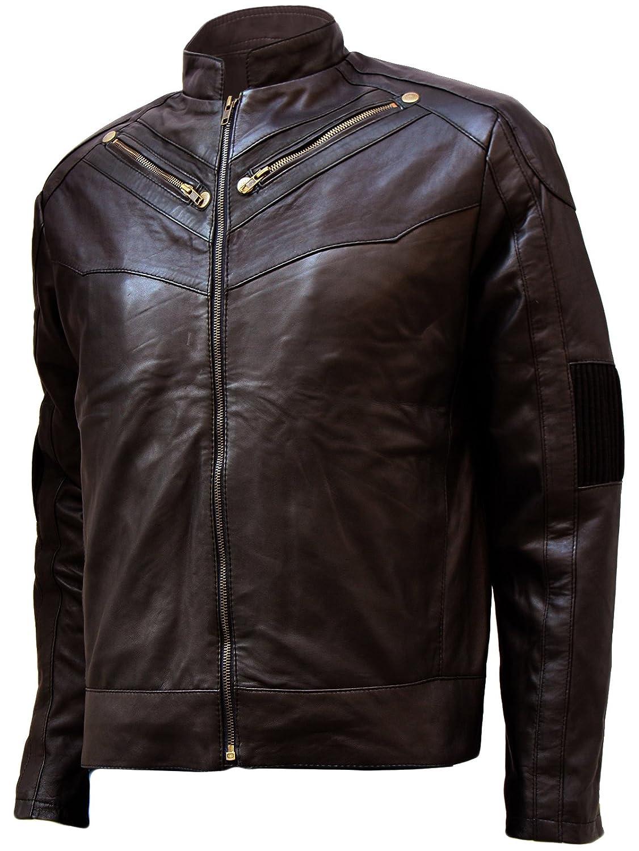 Lightweight Men's Dark Brown Soft Leather Jacket