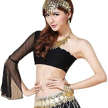 Best Dance Women's Belly Dance Costumes Shoulder Top Sexy