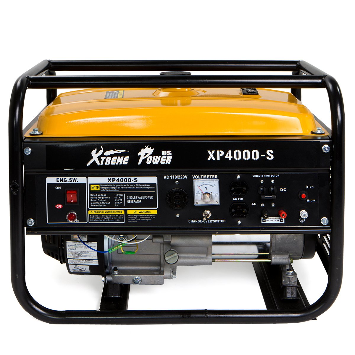 XtremepowerUS 3500 Running Watts/4000 Starting Watts, Gas Powered Portable Generator 7HP Air Cooled OHV Engine