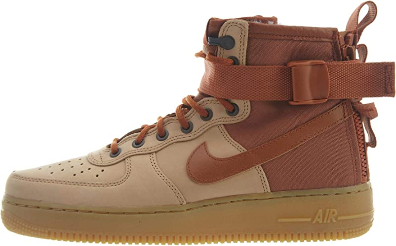 Ministerio entregar factible  Amazon.com | Nike Sf Af1 Mid PRM Mens Style: AA1129-200 Size: 8 | Fashion  Sneakers
