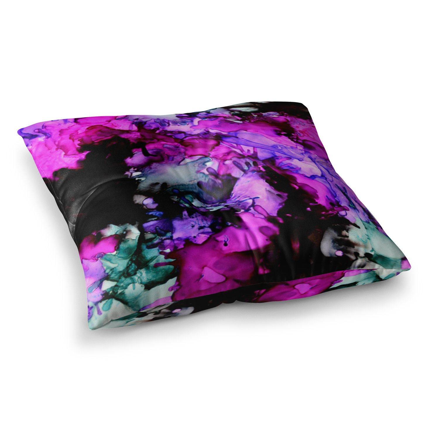 Kess InHouse Claire Day Siren Pink Purple 23 x 23 Square Floor Pillow