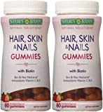 Natures Bounty Optimal Solutions Hair, Skin and Nails Gummies, 80 Count (Pack of 2)
