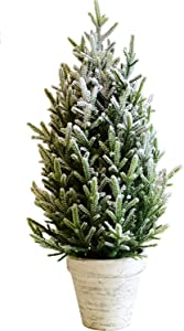 Christmas Tree Snow Christmas Tree Artificial Table Christmas Tree Decorative Mini Snow Tree for Home Office (Color : Green, Size : Free Size)
