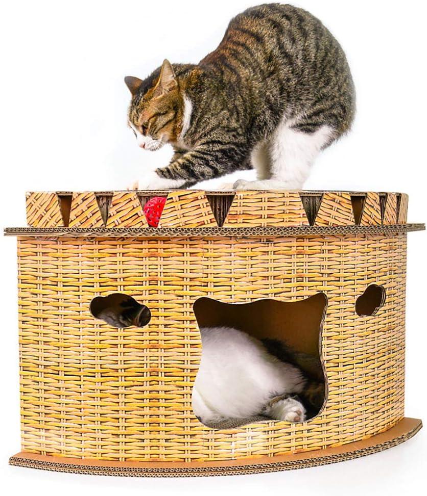 DJLOOKK Postes rascadores para Gatos, con Forma de Abanico, para Gatos y Gatos, Apto para Gatos Menores de 10 kg: Amazon.es: Deportes y aire libre