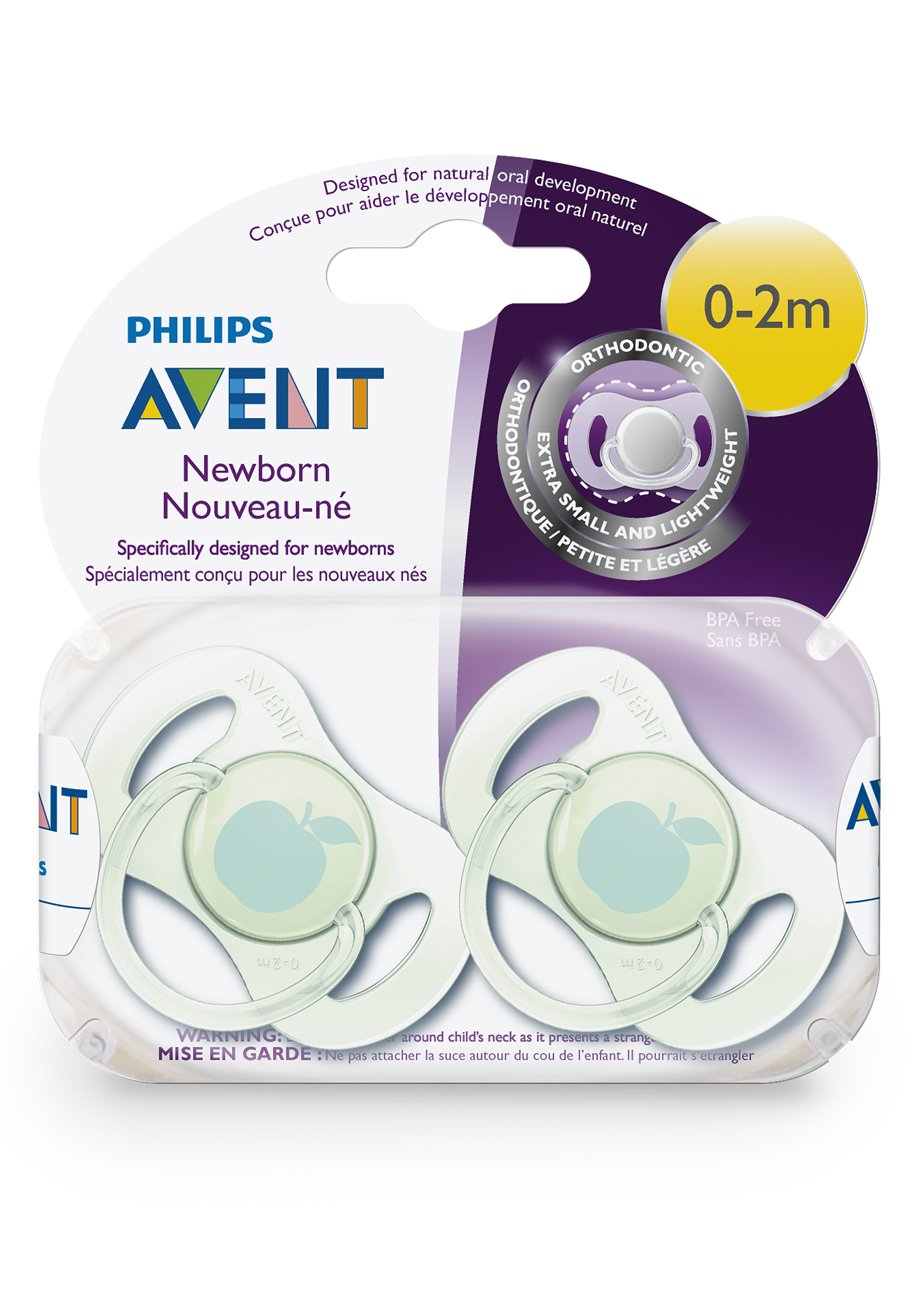 amazon com philips avent newborn pacifier 0 2 months baby
