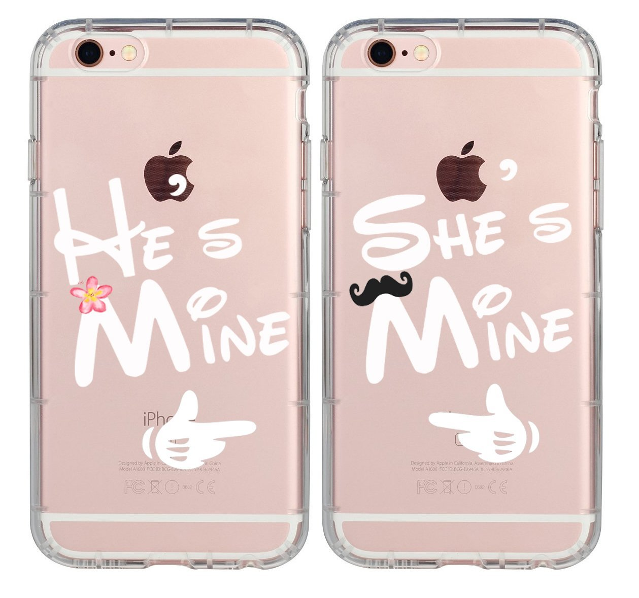 amazon com couple cases for her,cute couples things for girlfriendcouple cases for her,cute couples things for girlfriend boyfriend,he\u0027s mine she\u0027s mine king queen couple matching pink funny soft clear love forever quotes