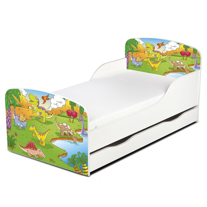 Price Right Home Dinosaur Design MDF Toddler Bed with storage Leomark