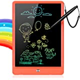 GRINETH LCD Writing Tablet,10 Inch Colorful Drawing Board,Bright Erasable Doodle Pad,Educational Toy for 3-9 Years Old Boys a