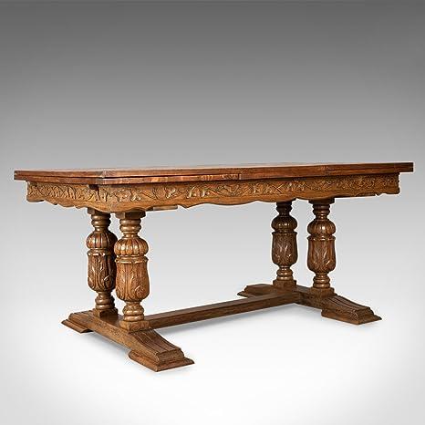 Mesa de Comedor Grande Antigua, Francesa, Hoja de Dibujo, Extensible ...