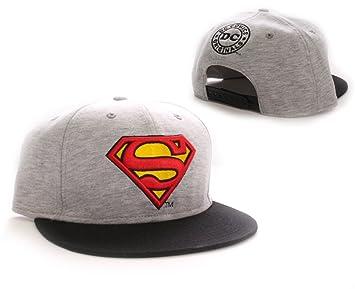 Superman Gorra Béisbol Vintage Logo grey  Amazon.es  Deportes y aire libre e7ef22178bd