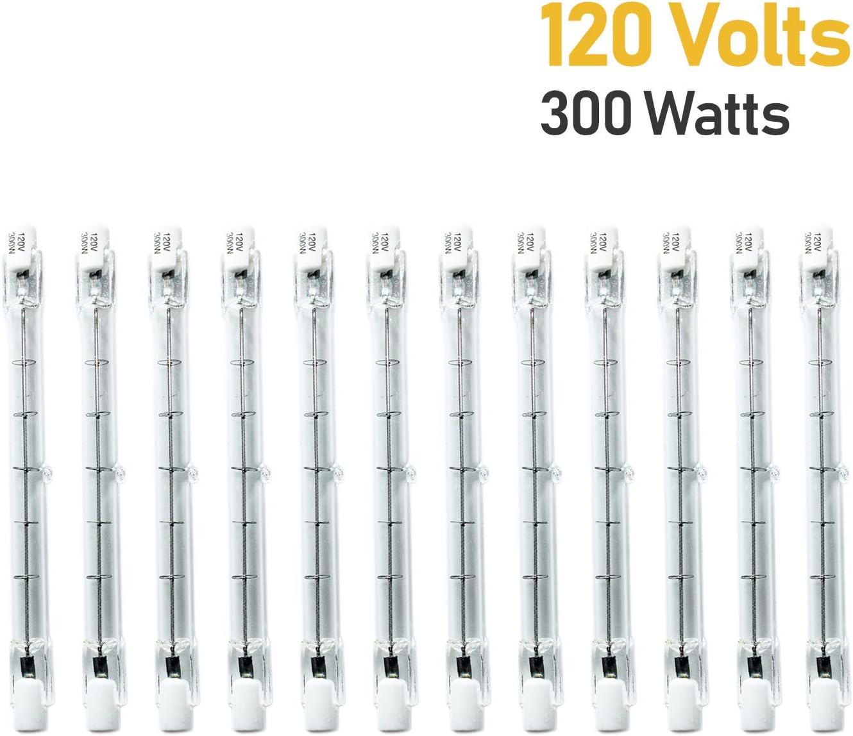 eTopLighting 40/% Clearance Sale 12 Pack of J Type Based T3 120V 300W Halogen Light Bulb APLIQ659