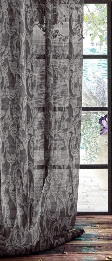 Algodon Blanco Serena Cortina Poliéster, Gris 200 X 260: Amazon.es: Hogar