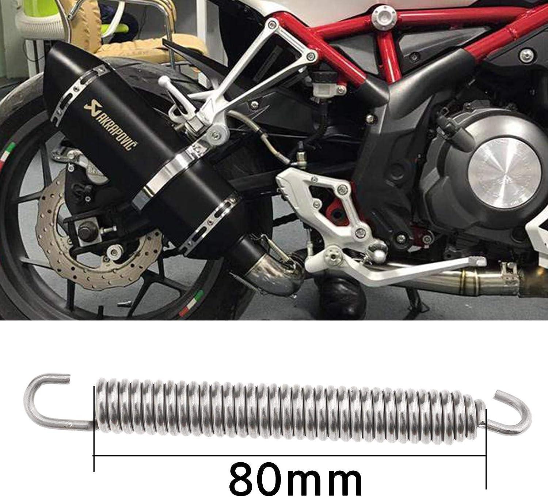 Yinettech 3 15 X 0 4 Zoll Erweiterungskammern Federn Auspufffedern Drehbare Montagefeder 4pcs Für Motorrad Roller Atv Küche Haushalt