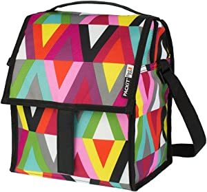 PackIt Freezable Deluxe Large Lunch Bag with Shoulder Strap, Viva