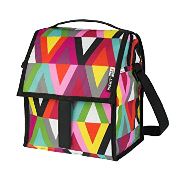 bafd909ff325 PackIt Freezable Deluxe Large Lunch Bag with Shoulder Strap