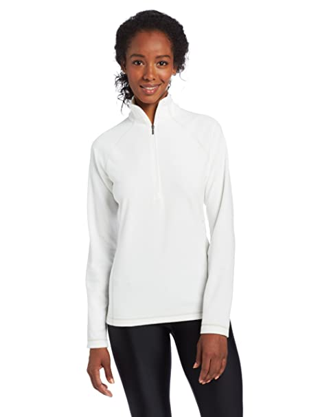2a9c4624769 Amazon.com  White Sierra Women s Alpha Beta Quarter-Zip Fleece ...