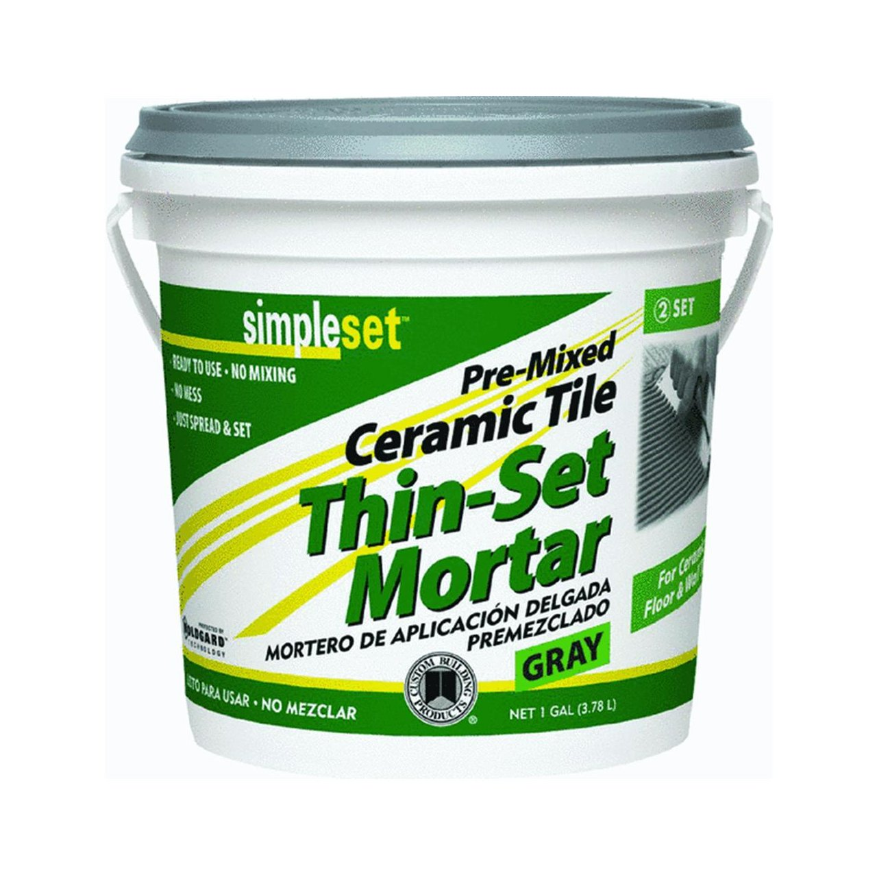 Simpleset pre mixed thin set mortar 1 qt tile grout amazon dailygadgetfo Image collections
