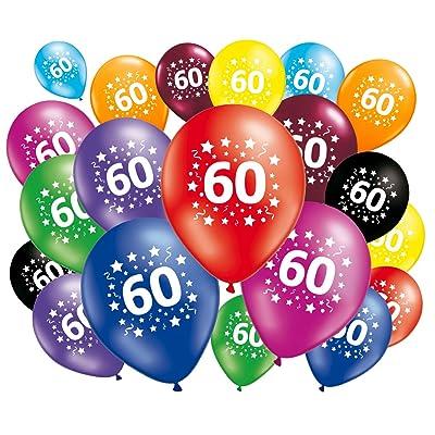 FABSUD Lot de 20 Ballons anniversaire 60 ans