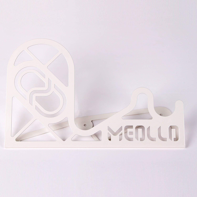 100/% Acciaio Inox Supporto per Casco Made in Spagna 2 X Bianco