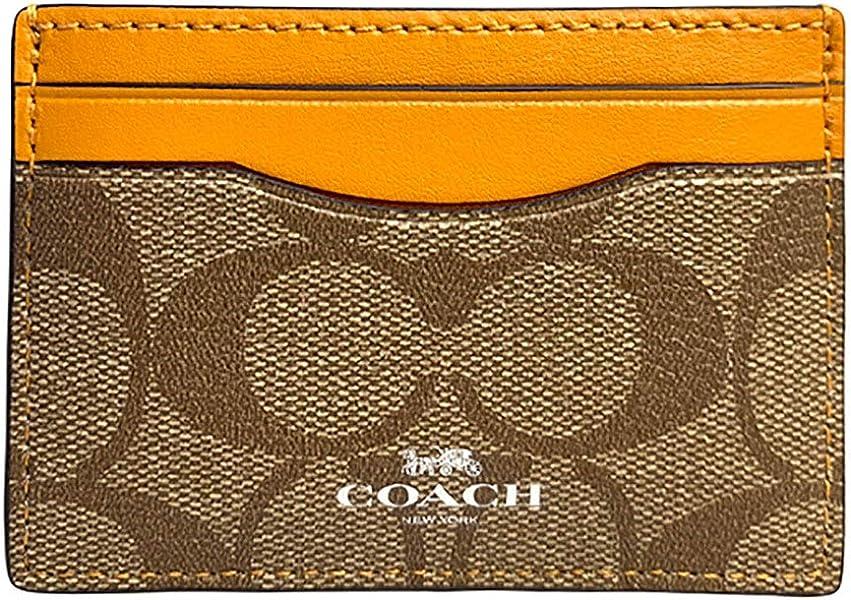 a2683c783d0b コーチ COACH 小物 カードケース レディース アウトレット PVCコーティングキャンバス×レザー パスケース F63279 SVB10  カーキ×タンジェリン コーチ COACH レディース