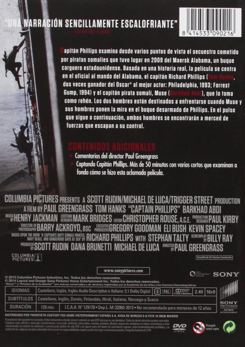 Capitán Phillips [DVD]: Amazon.es: Tom Hanks, Barkhad Abdi, Barkhad Abdirahman, Paul Greengrass: Cine y Series TV