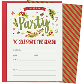 amazon com christmas party invitations for holiday celebrations